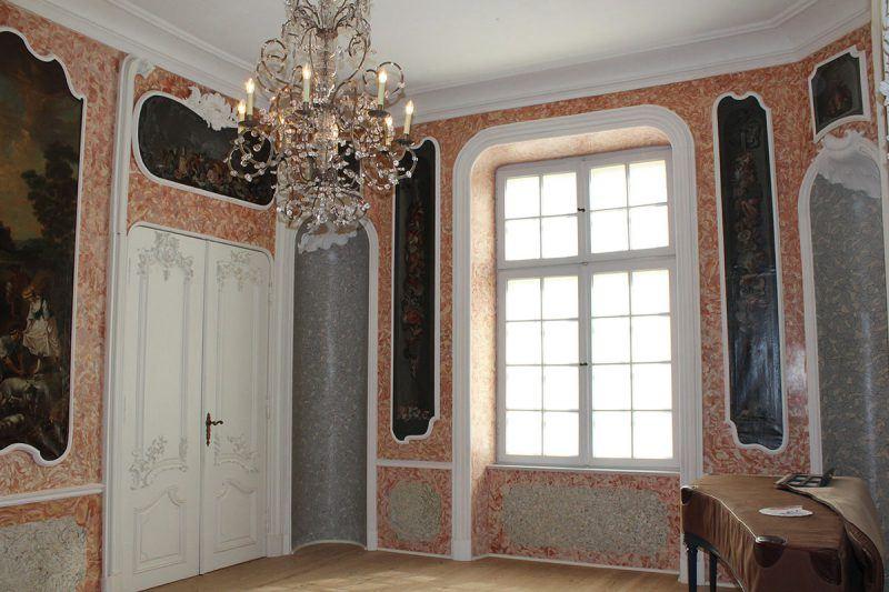im Prinzenhaus zu Plön – mit kunstvollen Stuckarbeiten von Bartholomeo Bossi