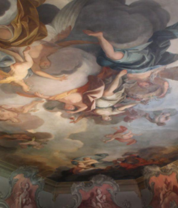 vom Prinzenhaus zu Plön, Deckspiegel Florasaal